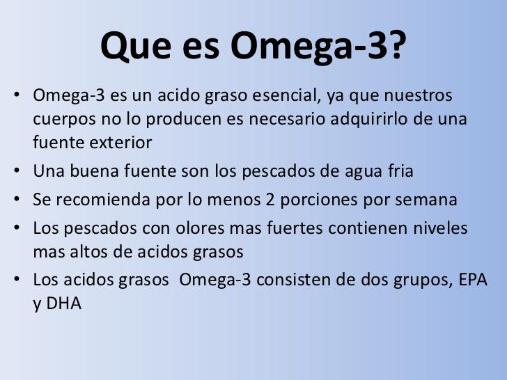 Qué es el Omega 3