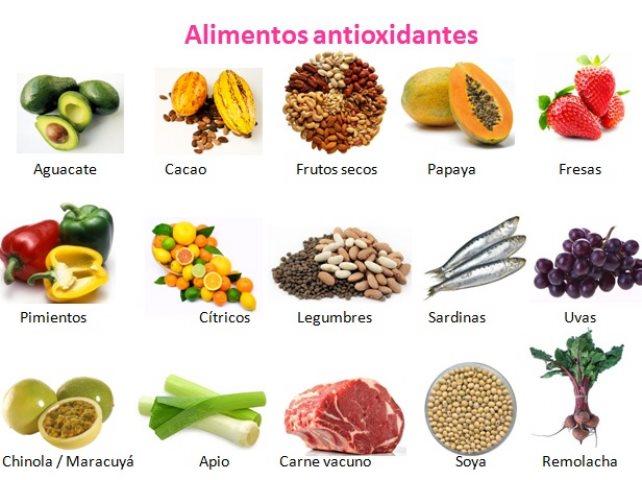 Alimentos con poder antioxidante