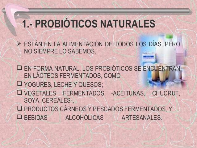 Probióticos naturales