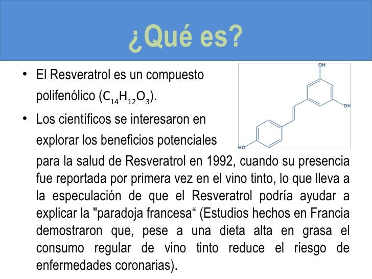 Que es el resveratrol