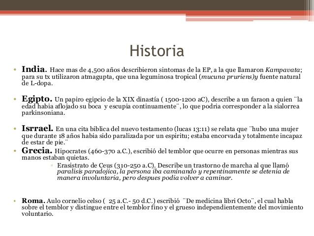 Tratamiento de la enfermedad del parkinson con Mucuna Pruriens